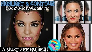 BEAUTY, BAKING & BLAH | HIGHLIGHT & CONTOUR FOR YOUR FACE SHAPE -- SIMPLE GUIDE