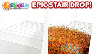 ORBEEZ AVALANCHE! Launching MILLIONS of Orbeez Down The Stairs!