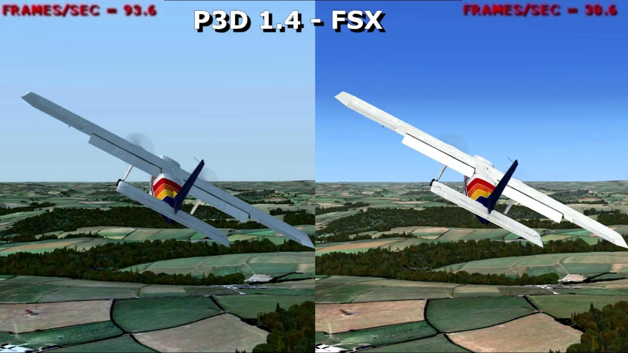 P3D 1.4 vs FSX sceneries [NVIDIA] (P3D) (FSX) - YouTube