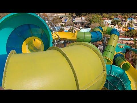 Colossal Curl Water Slide POV Busch Gardens Adventure Island Tampa 2015