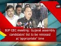 BJP CEC meeting: Gujarat assembly candidates' list to be released at 'appropriate' time - Delhi News