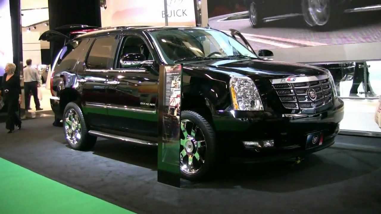 2012 cadillac escalade hybrid exterior and interior at 2012 montreal auto show