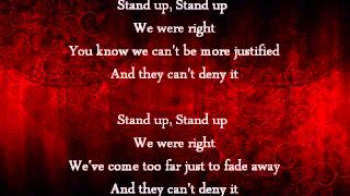 All That Remains: Stand Up [Lyrics]
