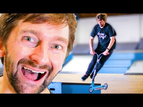 SKATERS LEARN SCOOTER TRICKS WITH RAYMOND WARNER