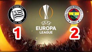 STURM GRAZ - FENERBAHÇE UEFA AVRUPA LİGİ MAÇI ÖZETİ | ALL GOALS - HIGHLIGHTS