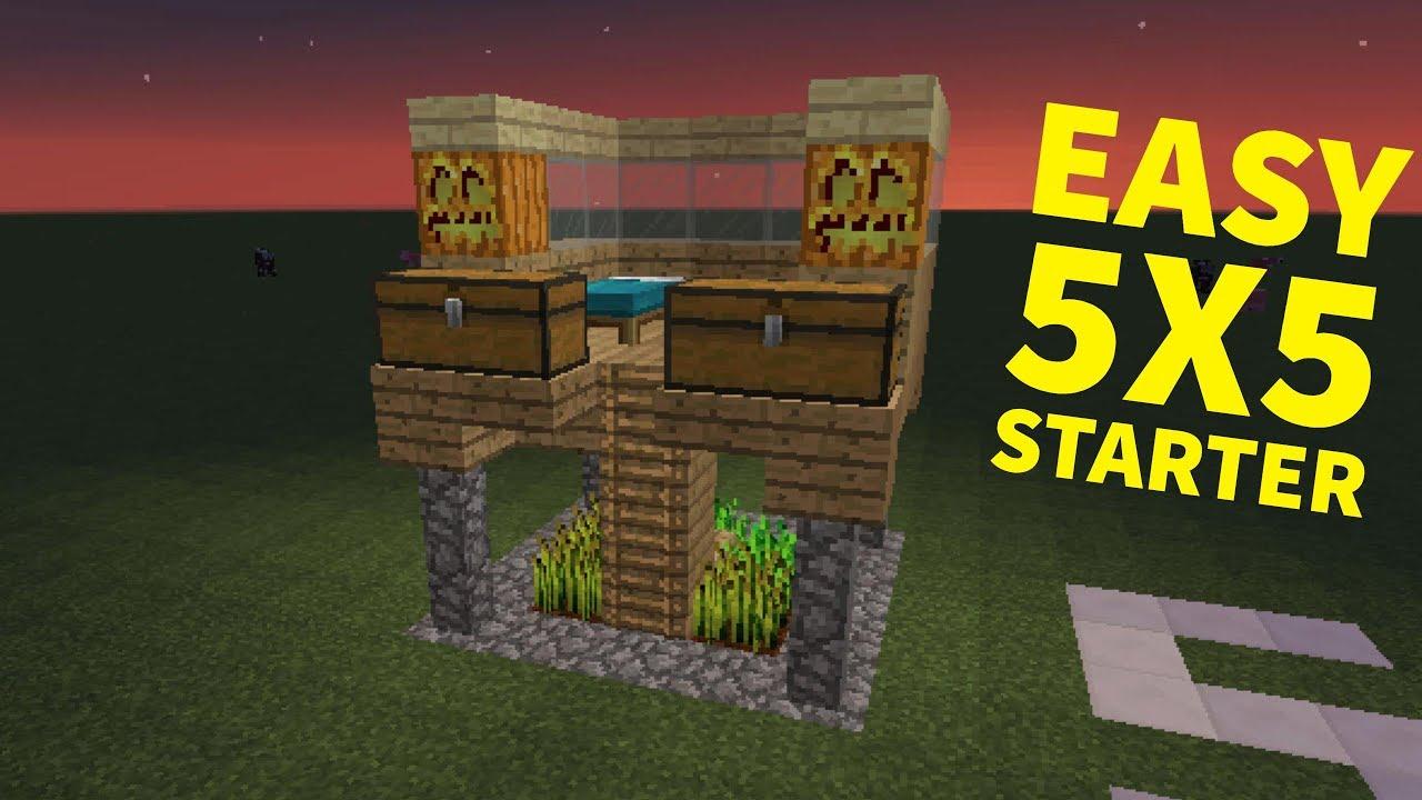 EASY Minecraft 5x5 Starter House - YouTube