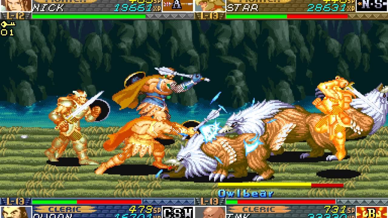 Dungeons Dragons Shadow Over Mystara Arcade 4 Player Netplay 60fps Youtube