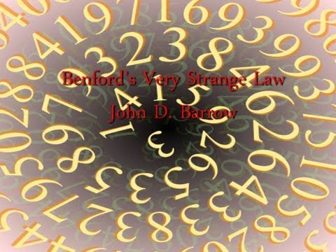 Benford's Very Strange Law - Professor John D. Barrow