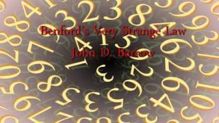Benford's Very Strange Law - Professor John D. Barrow thumbnail
