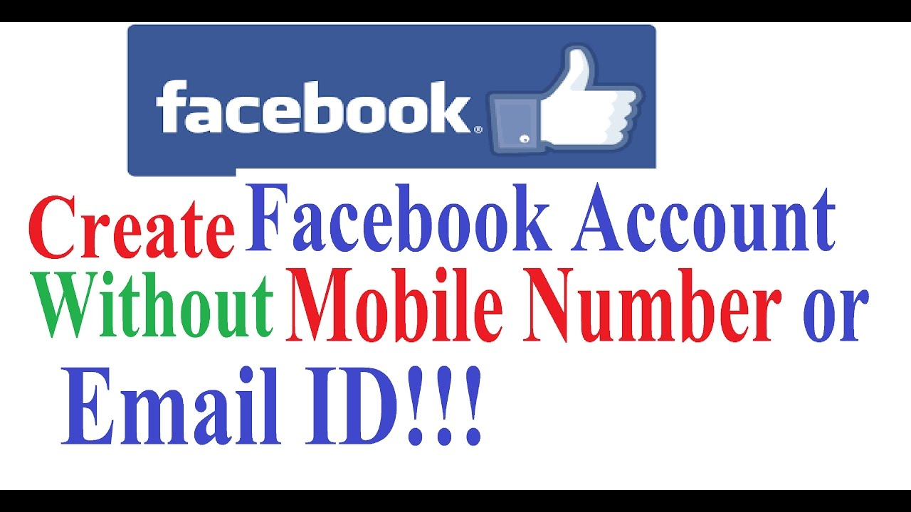 How can create email id without mobile number