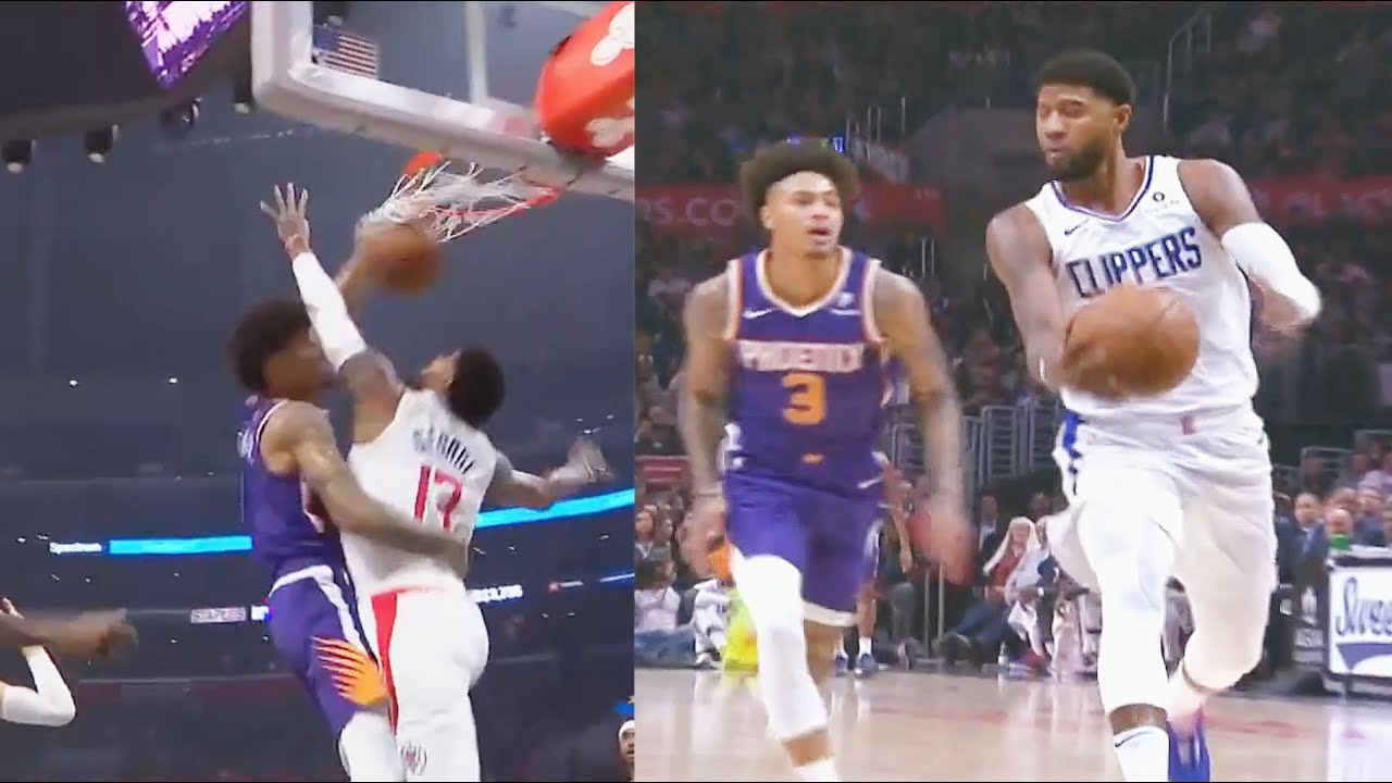 Paul George Gets Murdered By Kelly Oubre Posterizer Dunk Then George Gets Revenge! Clippers vs Suns