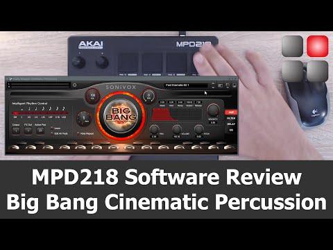 AKAI MPD2 Software Review - Big Bang Cinematic Percussion - MPD218 / MPD226 / MPD 232