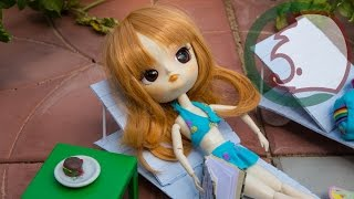 Как сделать шезлонг для куклы. How to make a deck chair for a doll.