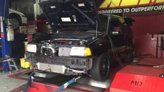 INSANE!!!! 374 Hp Ford Festiva turbo 25psi