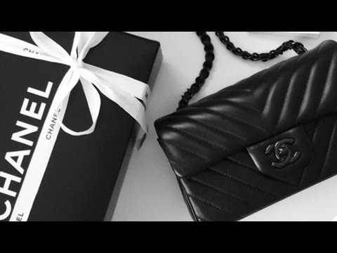 3950ed367d4c CHANEL UNBOXING + REVIEW | CHEVRON MINI RECTANGULAR FLAP SO BLACK ...