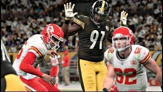 Madden 20 Gameplay - Kansas City Chiefs vs Pittsburgh Steelers - (CPU vs CPU) Madden NFL 20