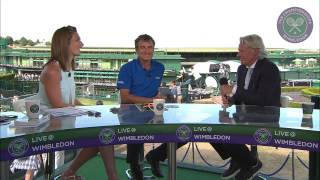 Bjorn Borg visits the Live @ Wimbledon studio