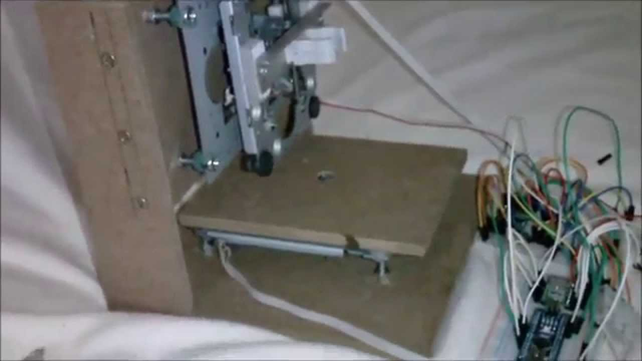 minifr se plotter aus dvd laufwerken arduino nano a4988 youtube. Black Bedroom Furniture Sets. Home Design Ideas
