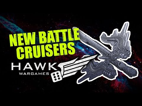 Hawk Wargames - New Dropfleet Battle Cruisers Ready For Retail