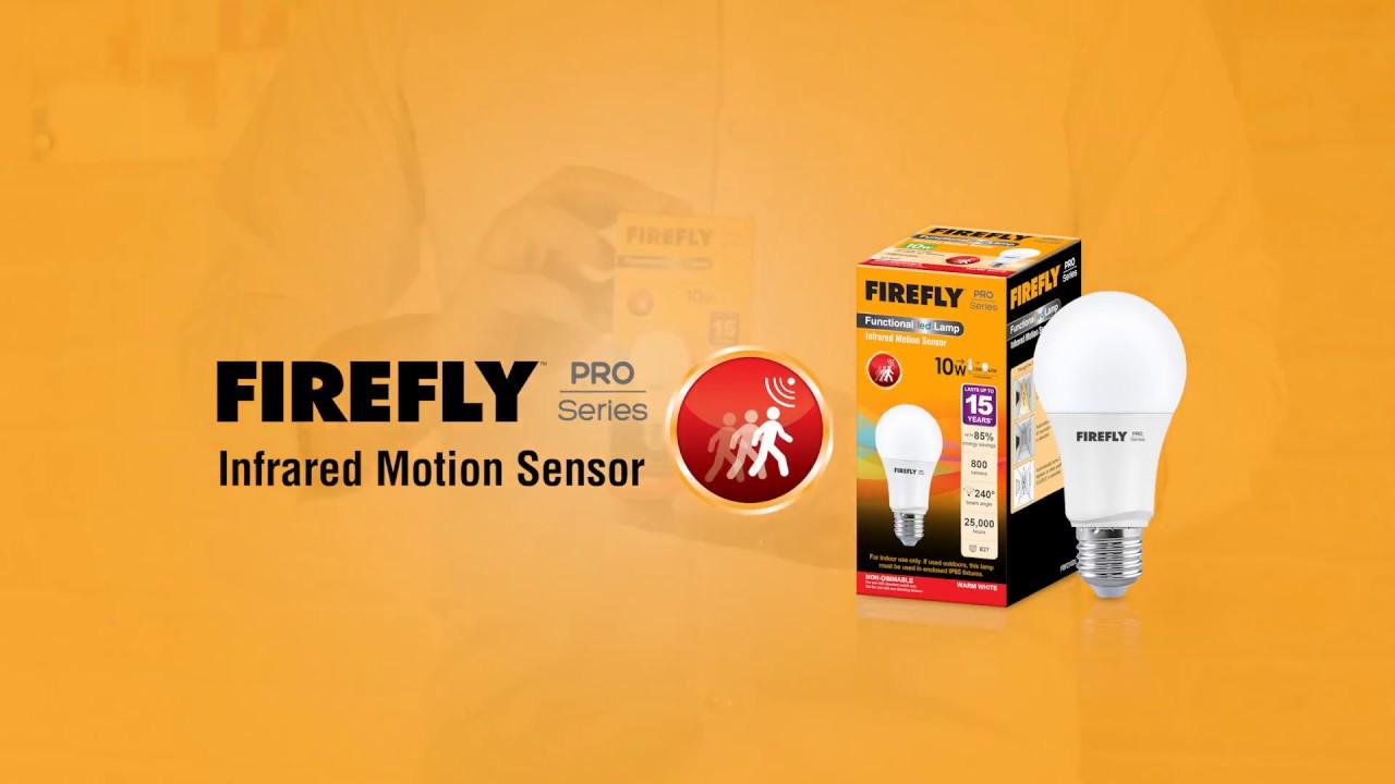 Firefly Led Infrared Motion Sensor Bulb