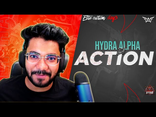🔴H¥DRA | Alpha! - Mini14 IN ACTION! 😎 H¥DRA ELITES DAY 3! 🤩 || PUBG MOBILE! 🤯