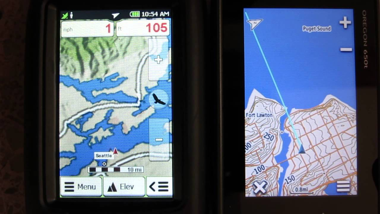 GPS display speed comparison Garmin Oregon 600 Rand McNally