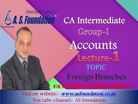 Intermediate Accounts Group-I Foreign Branches Lecture-1