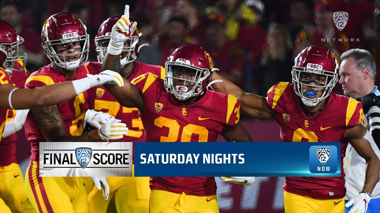 Uofa Football Score >> Highlights Usc Football Cruises Past Arizona Remains Undefeated At The Coliseum