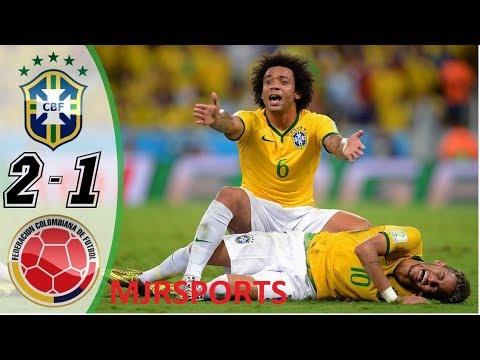 Brazil vs Colombia 2-1 - HIGHLIGHTS & GOALS RESUMEN & GOLES - WORLD CUP 2014 HD