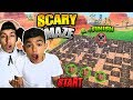 Scary Maze Hide N Seek In Fortnite With 10 Year Old Little Brother  Hilarious