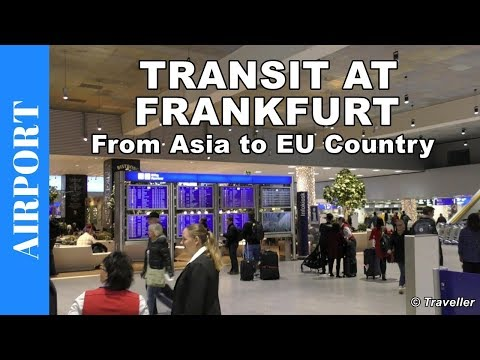 Transit walk at Frankfurt Airport, Terminal 1 - Connection F