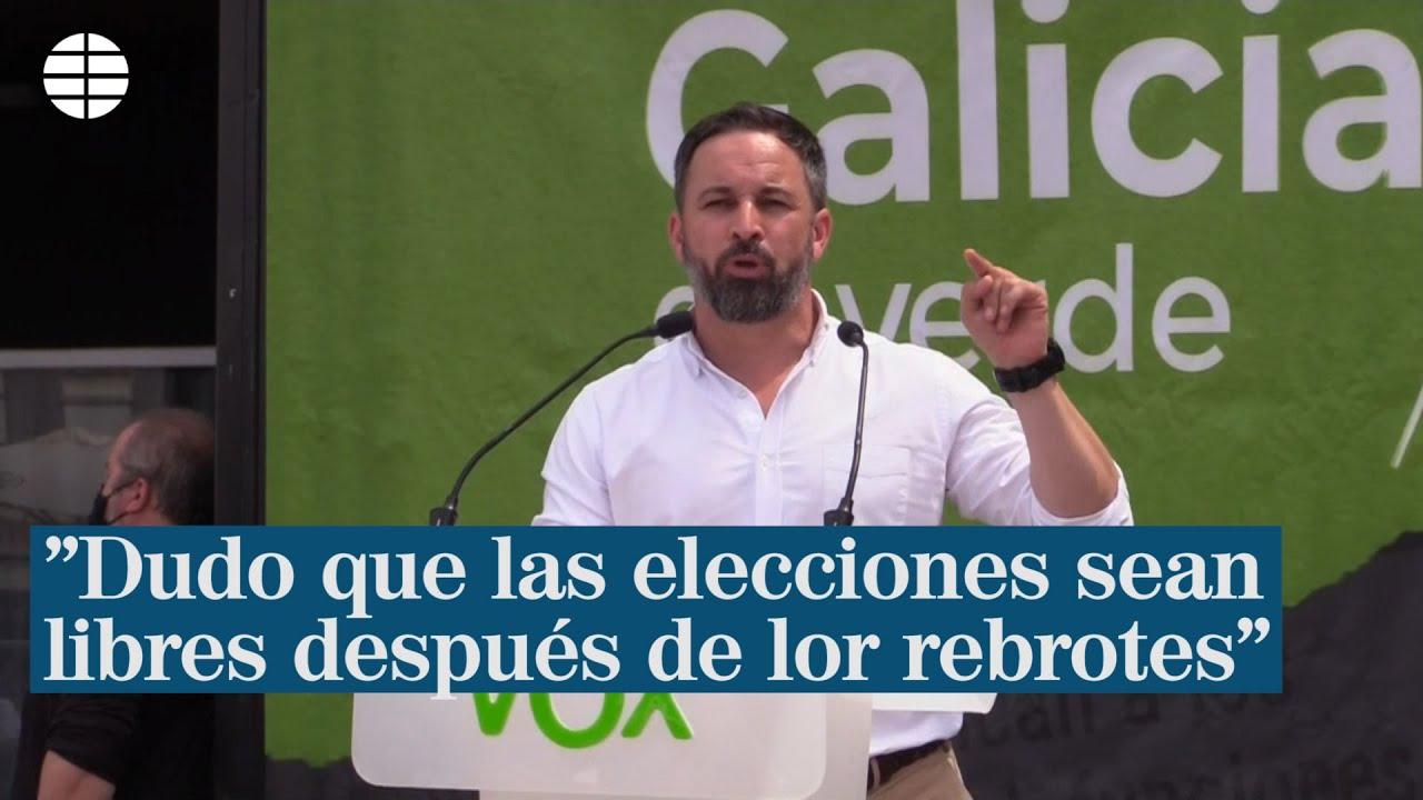 """Abascal duda que las elecciones sean """"libres y democráticas"""" tras el rebrote"""