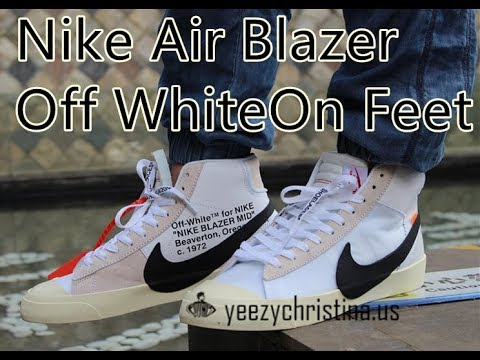 3fc67a20bbe03 Nike Air Blazer Off White On Feet Review HD - YouTube