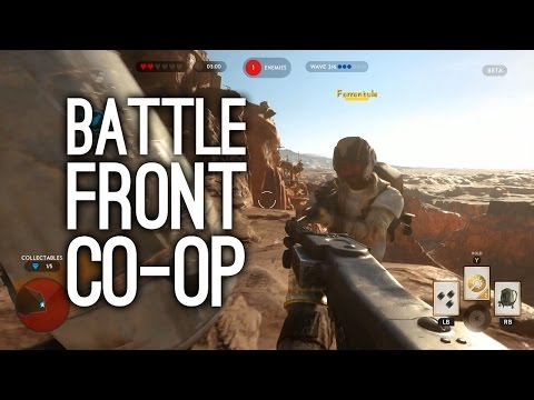 Геймплей кооперативного режима игры Star Wars Battlefront на Xbox One