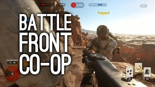 Star Wars Battlefront Co-op Gameplay - Xbox One Gameplay (Survival on Tatooine)