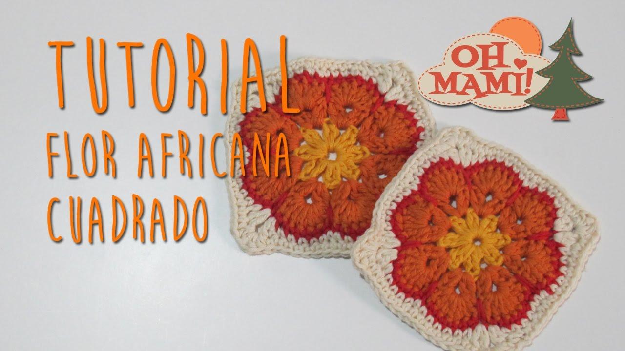 FLOR AFRICANA EN CUADRADO - YouTube