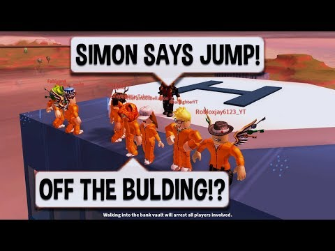 Roblox Jailbreak CRAZIEST SIMON SAYS EVER | $10 ROBUX CARD PRIZE | NEW SEWER ESCAPE UPDATE