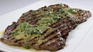 Char-Grilled Rump Steak Recipe w Green Pistou