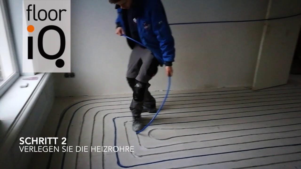 Geliebte Fußbodenheizung in einen vorhandenen Boden fräsen | FloorIQ - YouTube JM31
