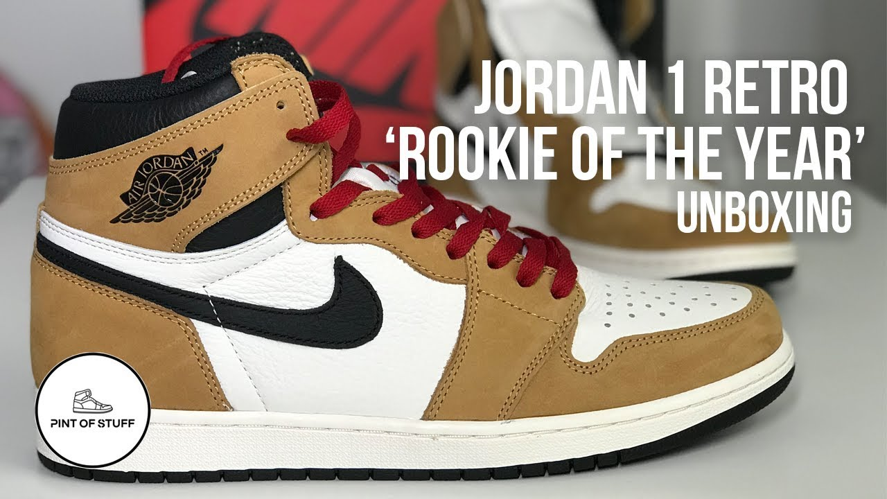 7b39ca7d6a4 Air Jordan 1 Retro 'Rookie of the Year' Sneaker Unboxing - YouTube