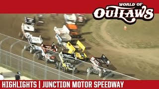 World of Outlaws Craftsman Sprint Cars Junction Motor Speedway Highlights