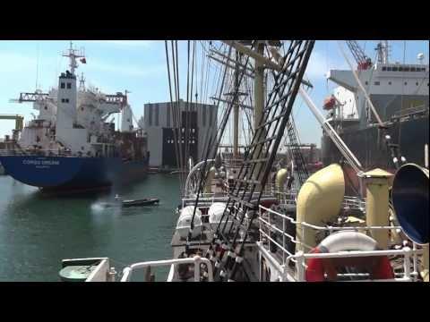 Unrigging the world's oldest Full-Rigger, Sørlandet Dry docked in Turkey Summer 2012