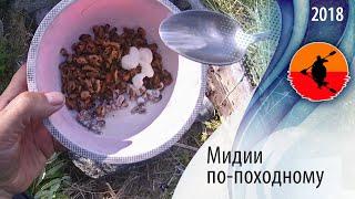 #Мидии по-походному | Туристские блюда из беломорских мидий | Приключения на байдарке