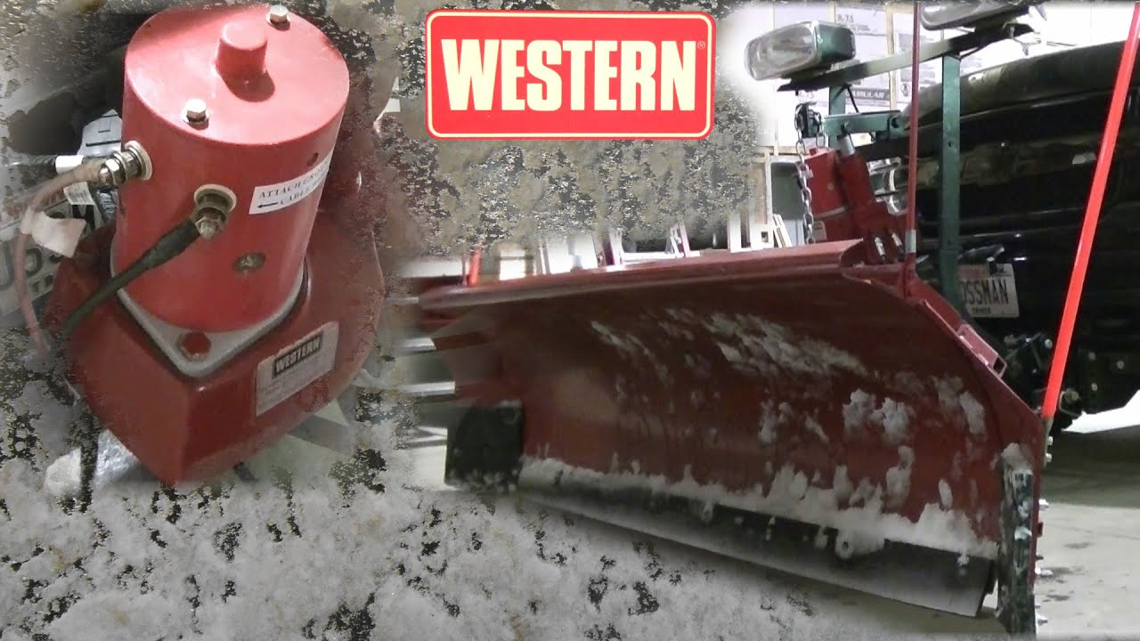 Western Unimount Snow Plow Problems Fixed  YouTube