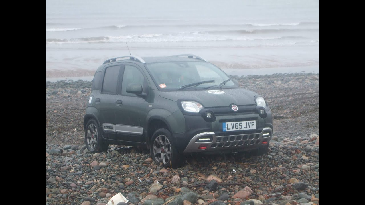 fiat 4x4 panda cross off road on the beach youtube. Black Bedroom Furniture Sets. Home Design Ideas