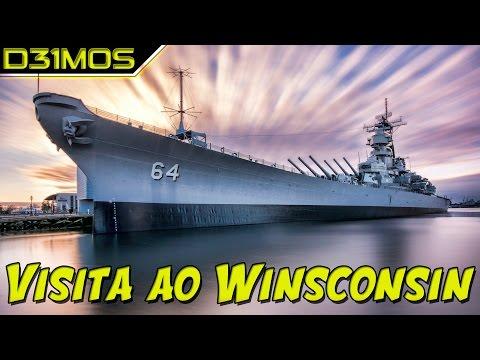 VISITEI o USS Wisconsin BB 64 Classe IOWA!!!  E um pouco de HISTÓRIA