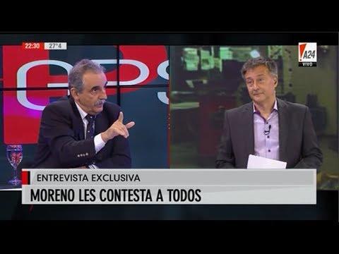 Guillermo Moreno con Rolando Graña en GPS por A 24 08/02/19