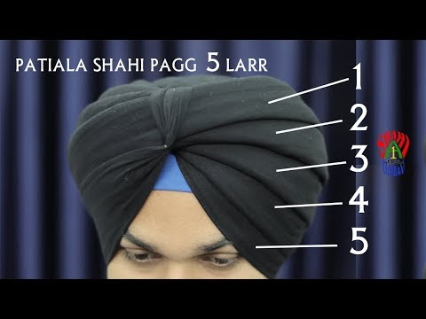 Cover Cut Hair Head | 5 Larr Patiala Shahi Pagg | 5 Layers Patiala Shahi Turban