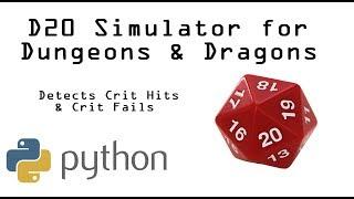 DnD D20 Dice Simulator in Python