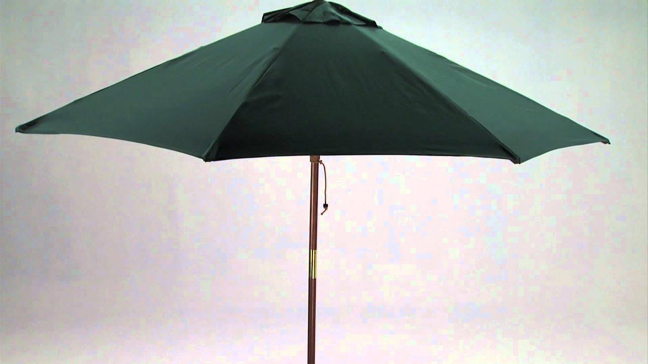 9 Foot Wooden Market Patio Umbrella   YouTube